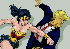 Wonder Woman Assaulting The Glorious President Of The United States