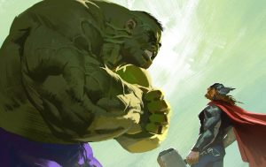 hulk and thor artwork 0g 300x189 hulk and thor artwork 0g