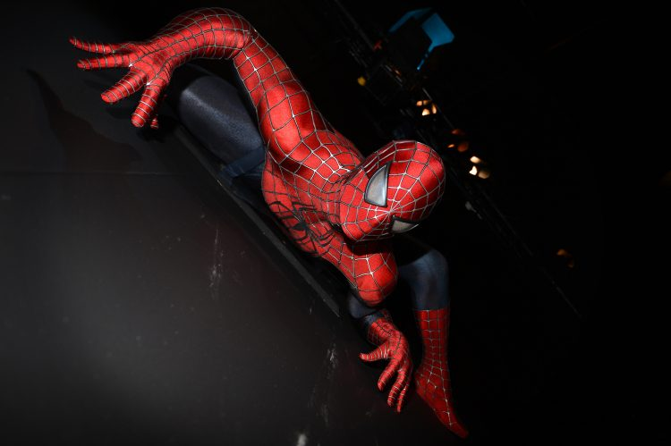 Spider-man on the wall