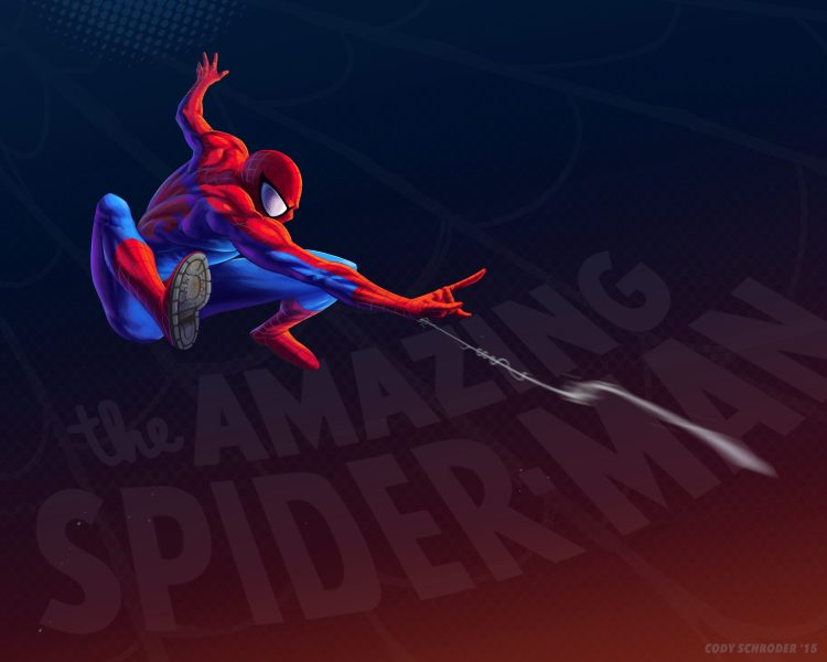 the Amazing Spider-man shooting his web