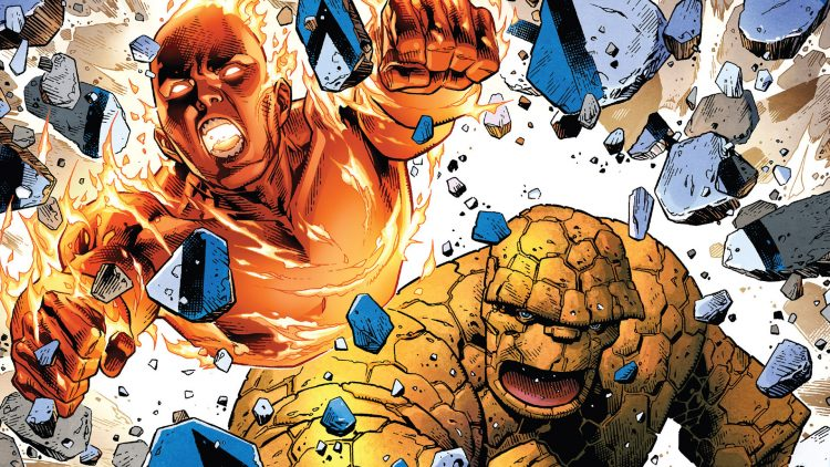 Human Torch and The Thing
