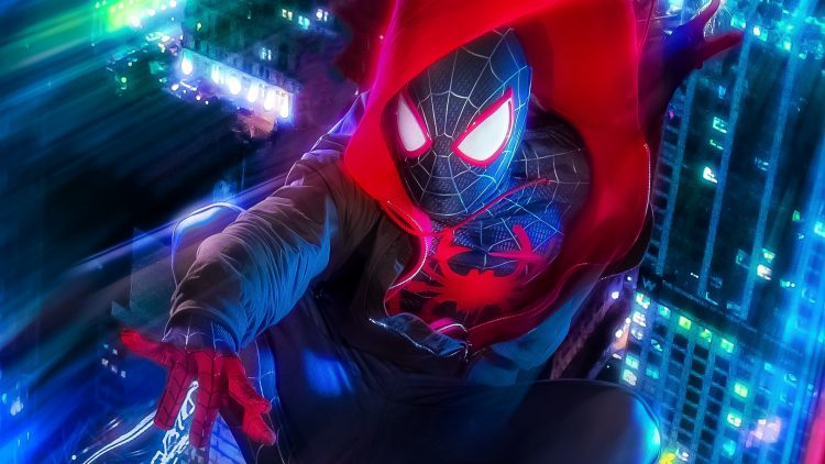 Spider-man in a hoodie