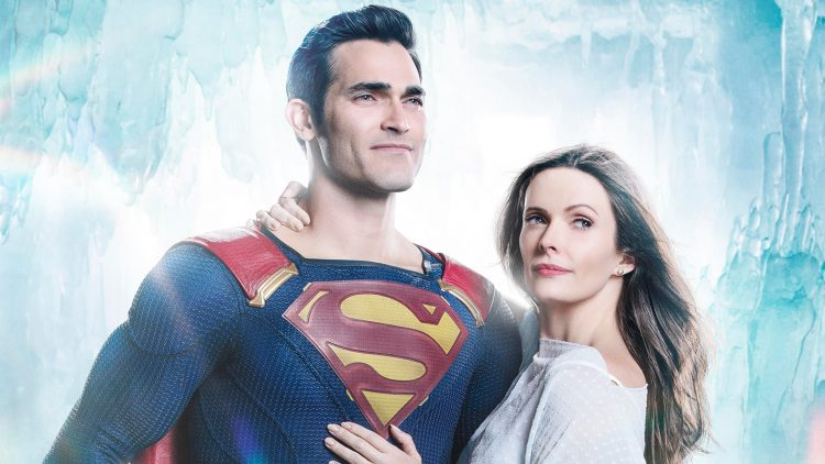 Superman and Lois in an ice cave