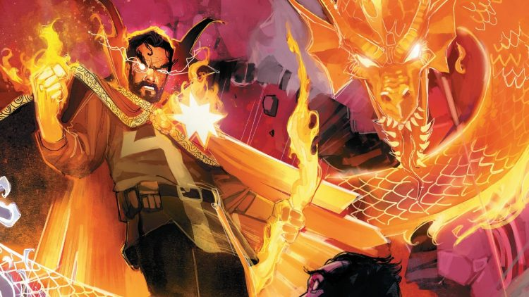 Doctor Strange and Fire Dragon