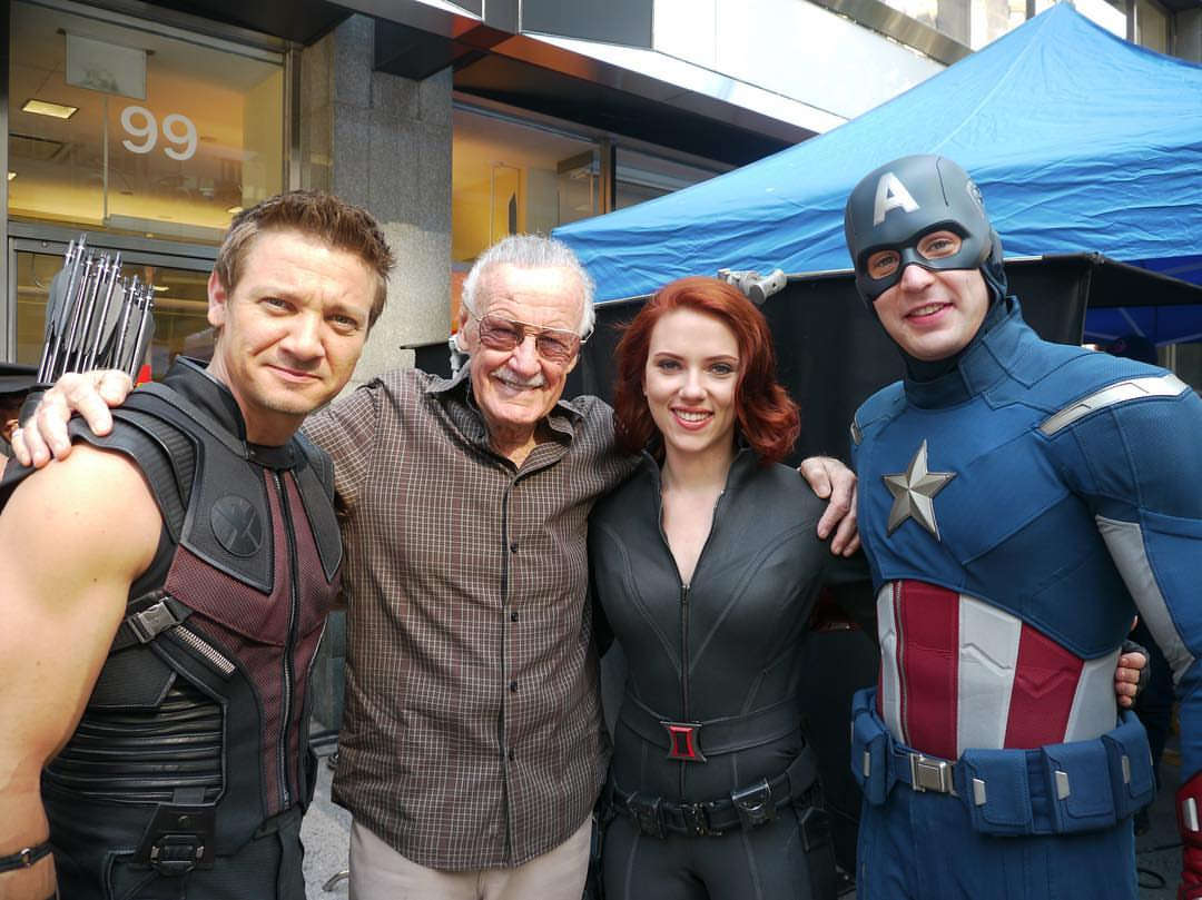 Stan Lee on the set of the first Avengers film.jpg
