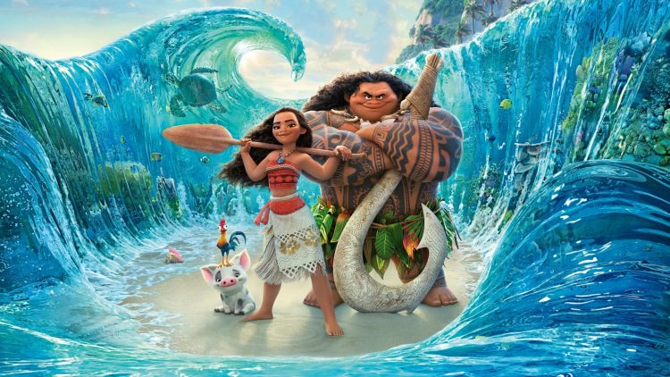 moana in the water