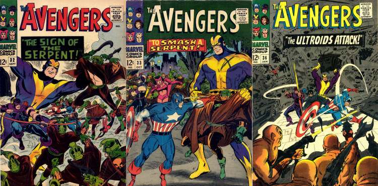 old Avengers Covers