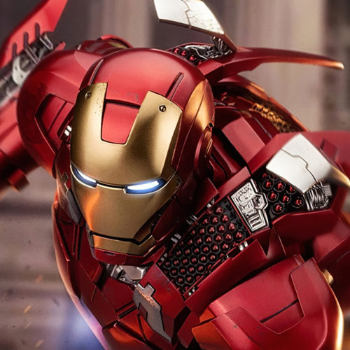 iron man with shoulder rockets