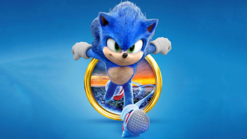 sonic running from a golden ring