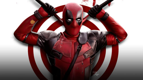 deadpool is weapons red