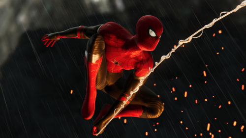 spidey in the fire