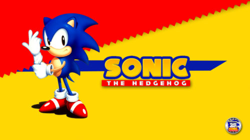 Sonic The Hedgehog fixing his gloves