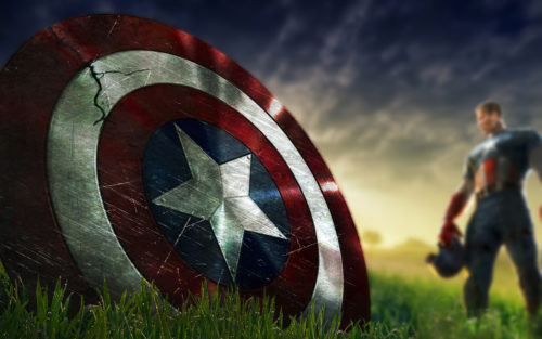 captain america's shield is cracked