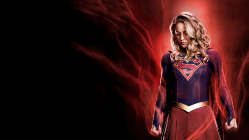 Supergirl in red steam