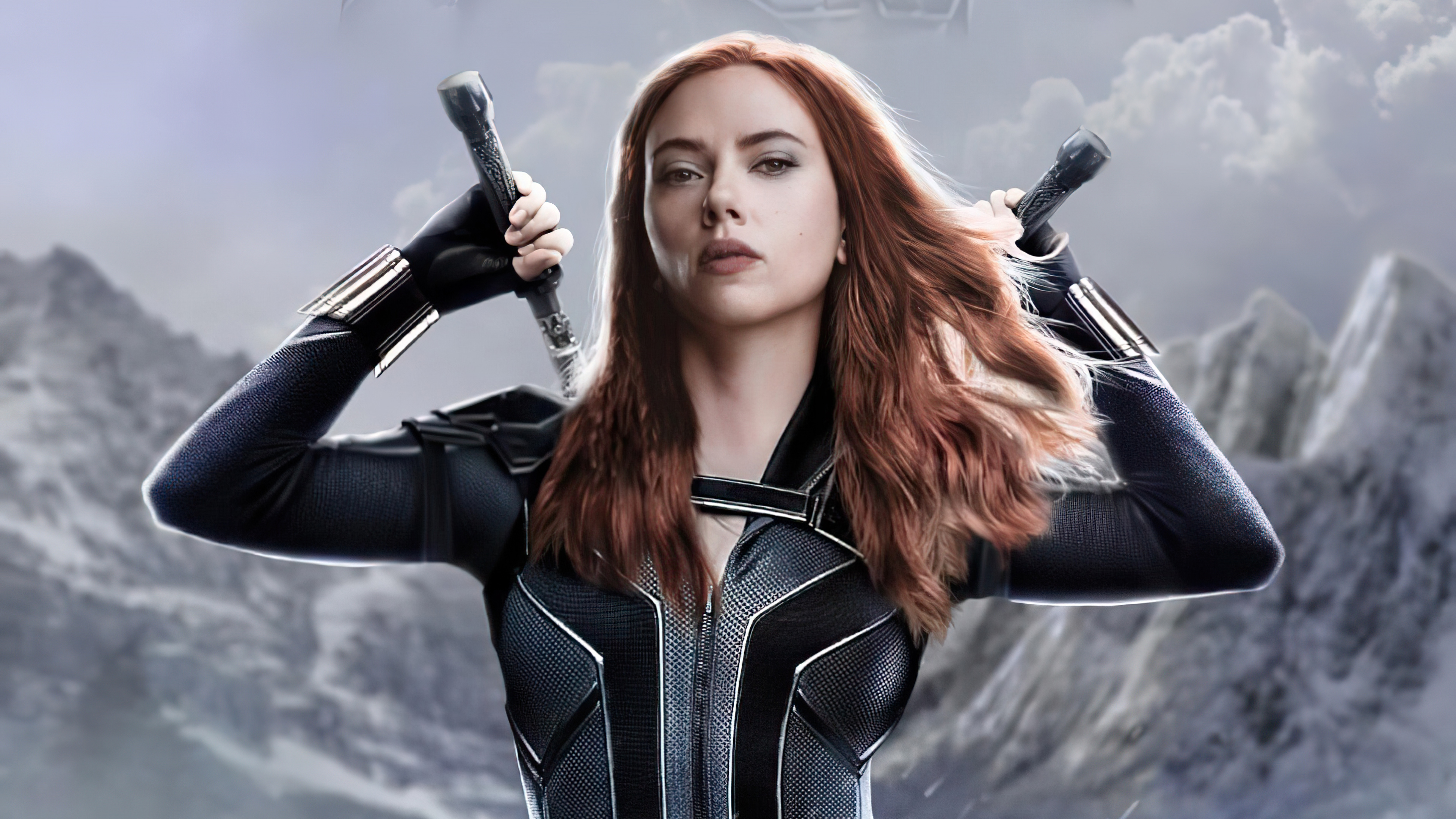 black widow with weapons
