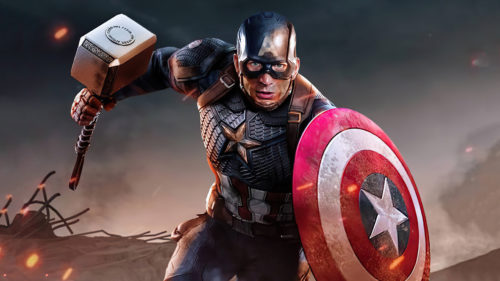 Captain American with hammer