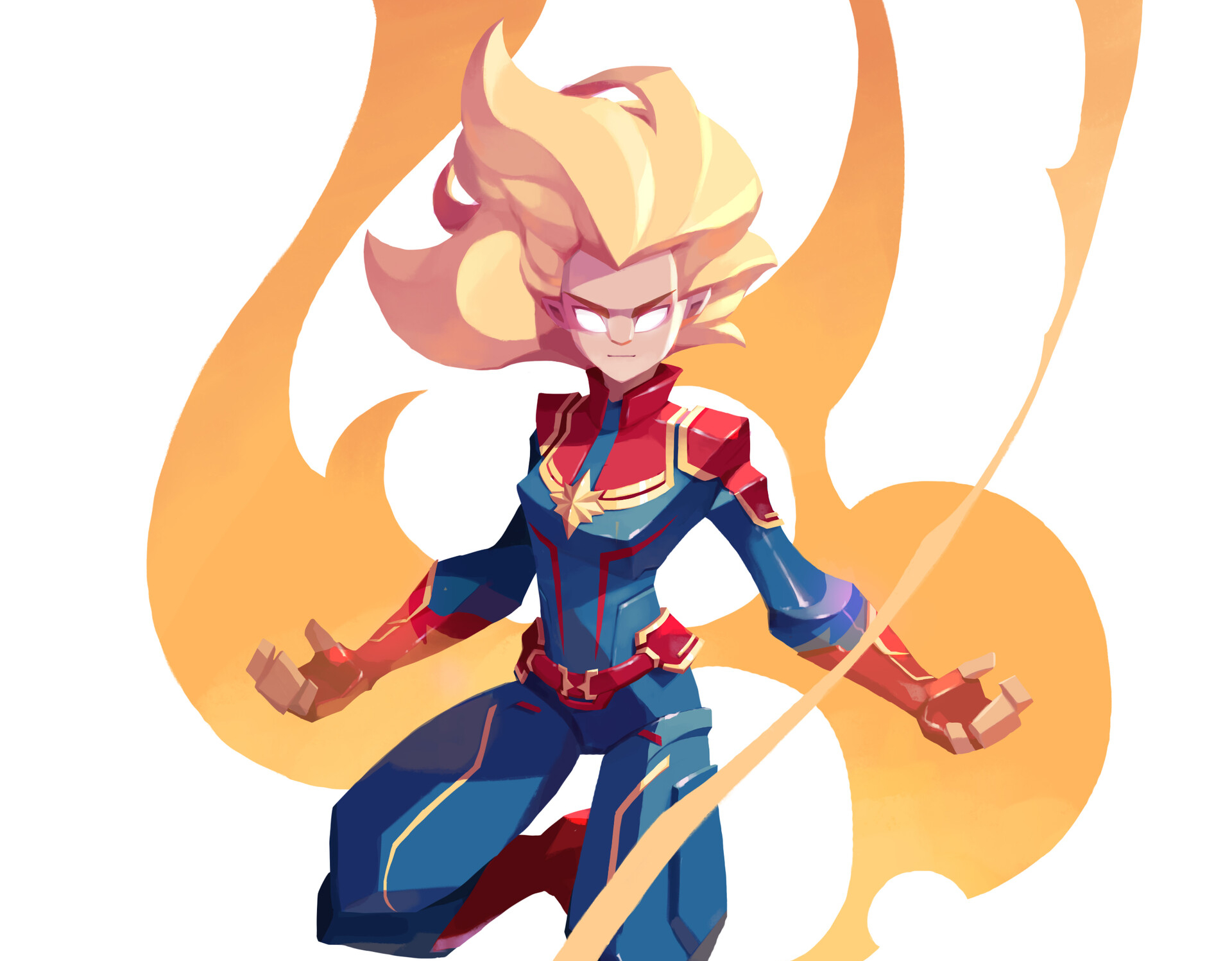 Captain Marvel Charging Up