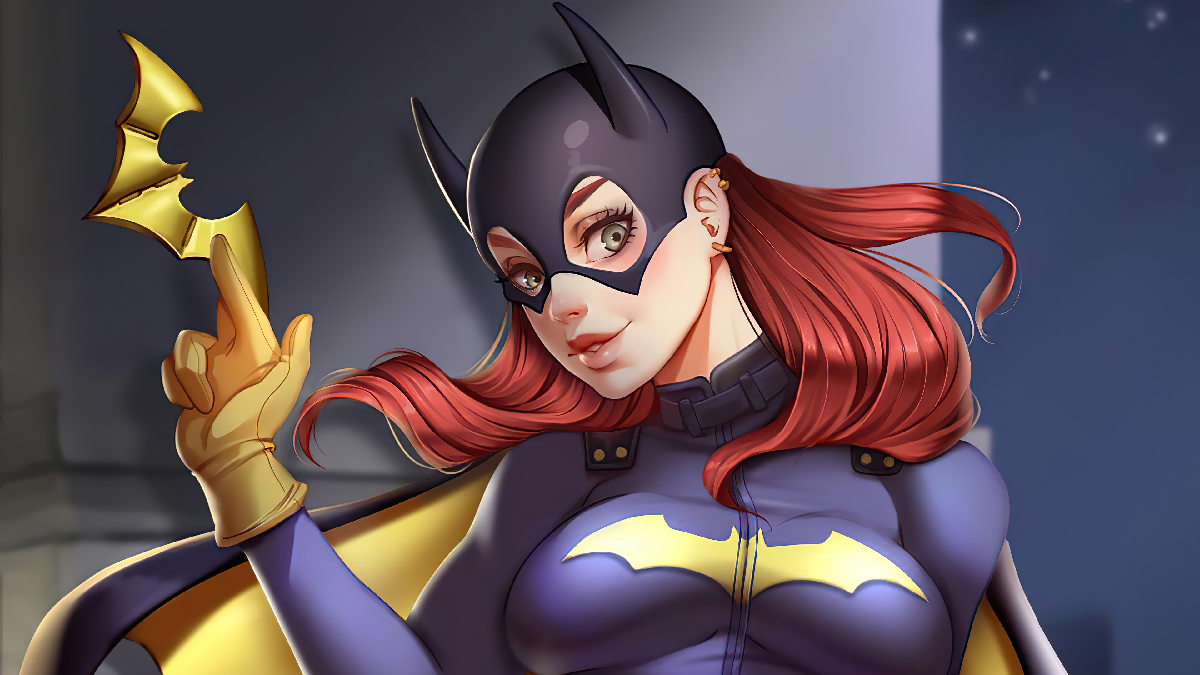batgirl with a weapon