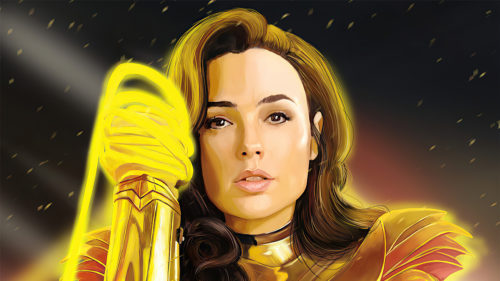 Wonder Woman is sultry in gold