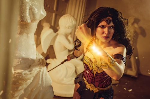 Wonder Woman in the museum